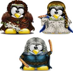 Tux Camelot (King Arthur, Guinevere and Percival)