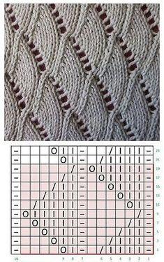 Lace knitting patterns K Lace Knitting Stitches, Lace Knitting Patterns, Knitting Charts, Loom Knitting, Knitting Designs, Baby Knitting, Stitch Patterns, Drops Design, Knit Crochet