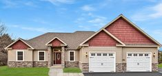"""Lynchburg - Fine Line Homes - """"Wow!"""" You'll hear those words a lot as guests comment on the Lynch - Custom Home Builders, Custom Homes, Ranch House Plans, Open Layout, Building Design, Living Spaces, Floor Plans, Exterior, House Design"""