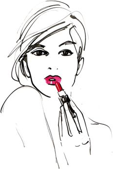 #izakzenou #izak #illustration #beauty #beautyillustration #lipstick #trafficnyc