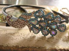 Sparkle colorful peacock Swarovski rhinestone by weddingvalle, $28.88