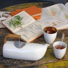 Théière Mirza Tsé Tsé : Théière design en porcelaine blanche