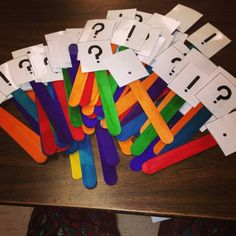 Teaching my first grade class about the four types of sentences (Declarative…