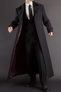 English style suit and long coat from Japan, uenoya Mens Fashion Suits, Mens Suits, Mode Masculine, Estilo Cool, Moda Formal, Cool Outfits, Fashion Outfits, Sharp Dressed Man, Character Outfits