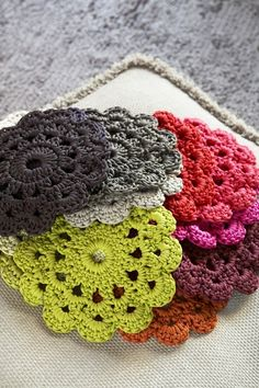Crochet Collection: Floral Coaster - Tutorial ❥ 4U // hf