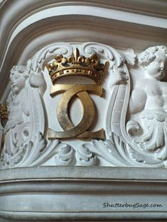 Catherine de Medici's Royal Insignia  at Chateau de Chenonceau  Loire Valley, France
