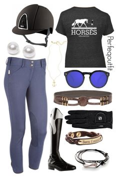 Blue and black ride Horse Riding Clothes, Horse Show Clothes, Riding Gear, Riding Helmets, Riding Boots, Equestrian Outfits, Equestrian Style, Equestrian Fashion, Polo Fashion