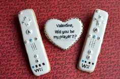 Gamer Valentine's Cookies by Not Your Everyday Cookie