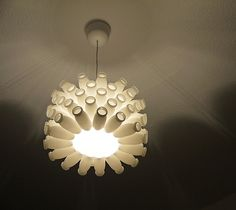 Actimel Lamp by Alex | weupcycle.com | Please subscribe to my weekly newsletter at upcycledzine.com ! #upcycle