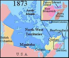 Map of Canada 1873