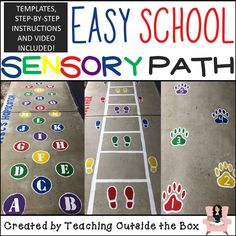 Make a huge impact on your school with this sensory path resource! Design and paint this easy and inexpensive sensory path with no artistic skills needed! Sensory Balloons, Sensory Wall, Sensory Rooms, Sensory Activities, Sensory Tubs, Physical Education, Special Education, Health Education, Early Education