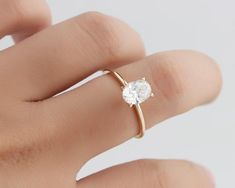 Solid Gold Ring/ Oval Simulated Diamond Wedding Ring/ Moissanite Engagement Ring/ Anniversary Ring/Promise Ring/Yellow Gold Ring – i f y o u l i k e i t – einrichtungsideen wohnzimmer Morganite Engagement, Rose Gold Engagement, Gold Diamond Wedding Band, Diamond Bands, Oval Diamond, Shop Engagement Rings, Engagement Ring Settings, Yellow Gold Rings, Anniversary Rings