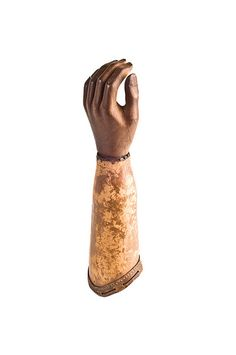 Prosthetic Hand and Forearm of Colonel Peter Charles Gaillard (Charleston, SC) who lost his hand during the Federal siege of Morris Island in 1863. Gaillard later served at the Battles of Cold Harbor and Petersburg and was elected Mayor of Charleston in November 1865. Charleston Museum.