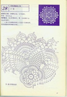 Home Decor Crochet Patterns Part 10 - Beautiful Crochet Patterns and Knitting Patterns Crochet Dollies, Crochet Doily Patterns, Crochet Diagram, Thread Crochet, Crochet Motif, Crochet Flowers, Crochet Lace, Crochet Stitches, Free Crochet