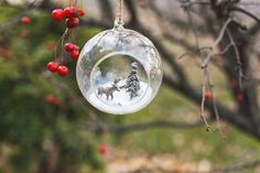 DIY Winter Wonderland Snow Scene Christmas Tree Ornament