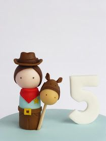 Peaceofcake ♥ Sweet Design: Cowboy Cake • Bolo Cowboy