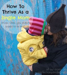 How to Thrive as a Single Mom {Even When You Didn't Expect to Be One} Do you wonder how you will survive as a single mom? Here are some tips for single moms to not only survive but thrive even if they never expected to be raising kids alone. These inspira