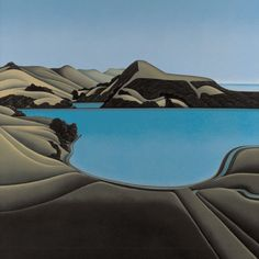 Hooper's Inlet painting, by Robin White, NZ.