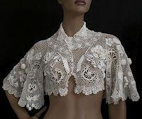 1905 Irish Lace Crochet Bolero. I love this design, especially the sleeves!
