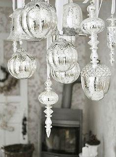 Lovely glass ornament chandelier