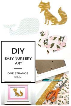 DIY nursery art Easy and Cheap Crafts