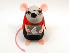 Mac Geek Computer Mouse ornament felt rat by TheHouseOfMouse, $34.00