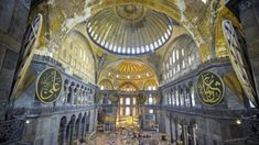 Hagia Sophia: Pope 'pained' as Istanbul museum reverts to mosque - BBC News Hagia Sophia Istanbul, Global Icon, Tourist Sites, Most Visited, Roman Catholic, 16th Century, World Heritage Sites, Mosque, Bbc News