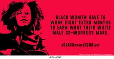 83% of Registered Black Women Support Equal Pay, and They Vote