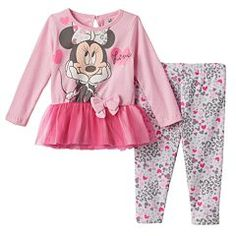 "Disney's Minnie Mouse ""Love"" Tunic & Leggings Set - Baby Girl"