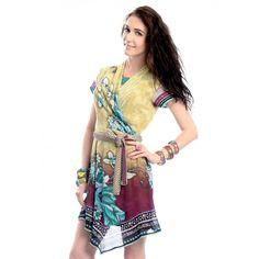 Digitally printed resort dress by Rajdeep Ranawat