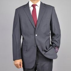 Charcoal Grey Two-button Suit
