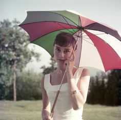 Happy National Umbrella Day! Audrey Hepburn... | SoAudreyHepburn