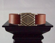 Watch Style Brown 20mm wide flat leather by OneOfOneJewelryDzyns