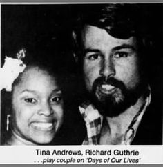 Tina Andrews (Valerie) and Richard Guthrie (David), Days of Our Lives, 1976