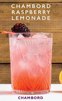 Bright citrus and fresh fruit flavor go hand-in-hand in this recipe for Raspberr… – Woodland Wedding Ideas Trend 2019 Chambord Cocktails, Pink Cocktails, Fancy Drinks, Refreshing Cocktails, Chambord Liqueur, Cocktail Drinks, Cocktail Recipes, Summer Cocktails, Margarita Recipes