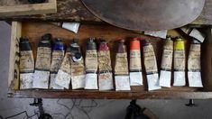 Artists Materials - The Palette of Katherine Stone - Natural Pigments Katherine Stone, Art Basics, Artist Materials, Pigment Coloring, Painting Tips, Painting Inspiration, Art Supplies, Palette, Make It Yourself