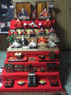 Complete Hinamatsuri Doll set (15 Japanese Antique Dolls),Excellent Condition with all accessories and original boxes by FlatRiver on Etsy