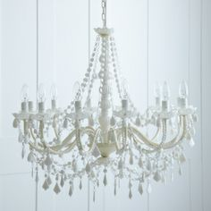 White Chandelier by Rigby & Mac White Chandelier, Chandelier Lighting, Home Goods Decor, Home Decor, Annie Sloan Chalk Paint, Modern Country, Love And Light, Home Collections, Home Accessories