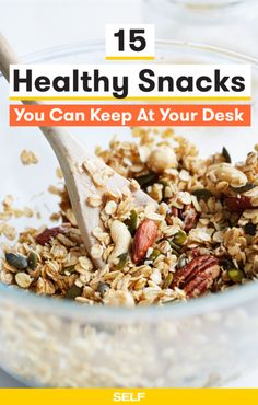 For SELF, by Alexa Tucker. Hail to the snack drawer. Having healthy snacks for work on-hand at the office is key for staying fueled and foc...