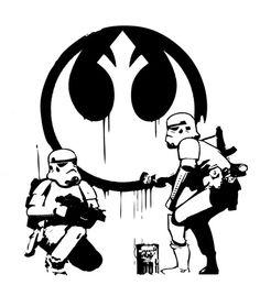 Banksy Troopers by Don Calamari