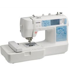 Create multiple fabric projects with the Brother Computerized HE1 Embroidery Machine. With 70 built-in embroidery designs, 120 frame pattern combinations and 5 embroidery lettering fonts and host of o