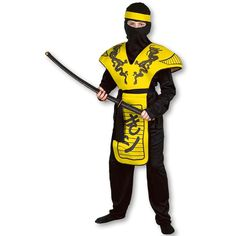 Yellow Dragon Ninja Costume now available at http://www.karatemart.com