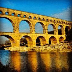 Last standing roman aqueduct, France