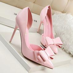32.88$  Watch now - https://alitems.com/g/1e8d114494b01f4c715516525dc3e8/?i=5&ulp=https%3A%2F%2Fwww.aliexpress.com%2Fitem%2F2016-New-Summer-Women-Pumps-Sweet-Bowknot-High-heeled-Shoes-Thin-Pink-High-Heel-Shoes-Hollow%2F32655288575.html - 2016 New Summer Women Pumps Sweet Bowknot High-heeled  Shoes Thin Pink High Heel Shoes Hollow Pointed Stiletto Elegant G3168-2 32.88$
