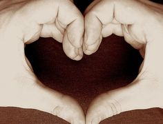 It takes two hands to make a heart! Repin this post and spread the love