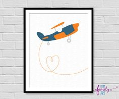 Your place to buy and sell all things handmade Nursery Decor Boy, Boy Decor, Nursery Prints, Nursery Wall Art, Plum Art, Kids Poster, Art For Kids, This Or That Questions, Airplane