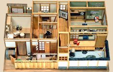Our Japanese dollhouse kits and sets are on this page. Please check out our high quality miniature Japanese dollhouse room kits. Our kits can be used to build a whole Japanese dollhouse. Japanese Style House, Traditional Japanese House, Casa Anime, A Frame House Plans, Asian House, Sims House Design, Japanese Architecture, Japanese Buildings, House Information