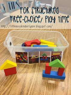 tips for structured free time / choice time / independent play for kids with Autism or disabilities. great for special education classroom