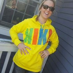 Nike hoodie Worn twice.  Neon yellow. Nike Tops Sweatshirts & Hoodies