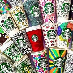 Want to do this to some Starbucks cups